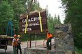2006 Installation of New West Entrance Sign (4443631434).jpg