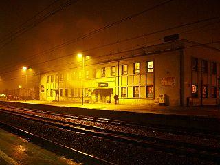 railway station in Rumia, Poland
