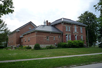 Cheboygan, Michigan - The Cheboygan County Historical Museum Complex, originally built as the Cheboygan County Sheriff Residence with attached jail cells (1882) and the New Jail addition (1912-14).