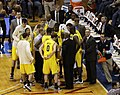 20091219 Michigan Wolverines Basketball Team in Huddle.jpg