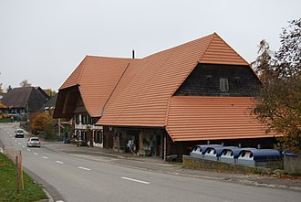 Zuzwil, Bern - Traditional Bernese farmhouse and barn in Zuzwil