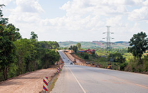 Thai highway network - Route 12/Asian Highway 16 in Phetchabun Province being widened (2013 CE)