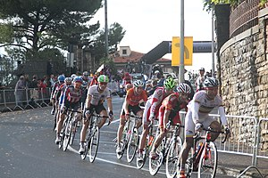 2013 UCI Road World Championships – Men's road race - Peloton during the race.