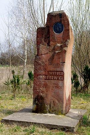 Małoszyce, Świętokrzyskie Voivodeship - Monument to Witold Gombrowicz