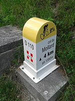 2015 Mountain pass cycling milestone - Mollard from Saint-Jean-de-Maurienne.jpg