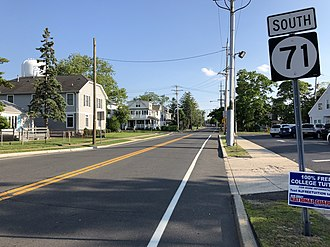 New Jersey Route 71 - View south along Route 71 at Route 35 in Belmar