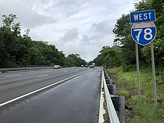 Springfield Township, Union County, New Jersey - I-78 in Springfield Township