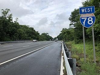 Springfield Township, Union County, New Jersey - I-78 in Springfield Township