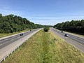 2019-06-24 10 31 16 View north along Interstate 95 and U.S. Route 17 from the overpass for Virginia State Route 208 (Courthouse Road) in Fourmile Fork, Spotsylvania County, Virginia.jpg