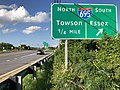 2020-08-04 18 12 47 View east along Maryland State Route 7 (Philadelphia Road) at the exit for Interstate 695 SOUTH (Essex) in Rosedale, Baltimore County, Maryland.jpg