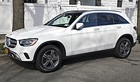 2020 Mercedes-Benz GLC 300 4MATIC in Polar White, front left.jpg