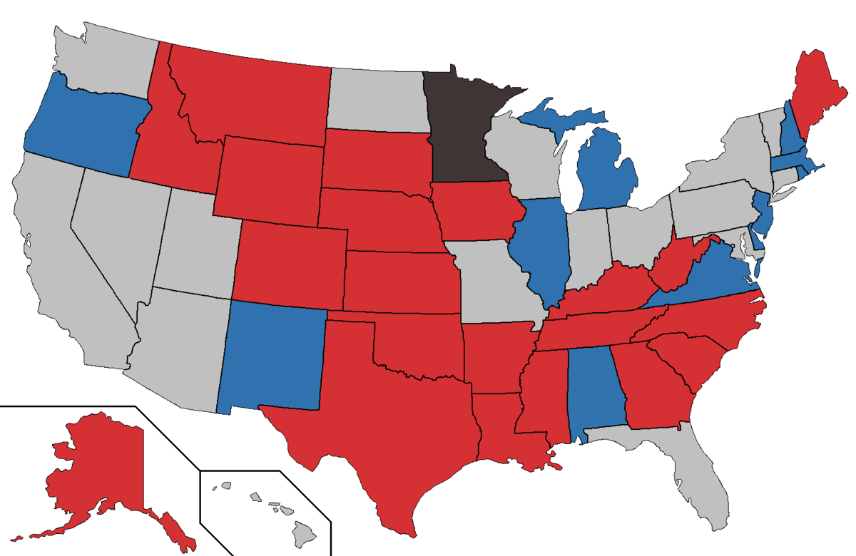 Us Map After 2014 Election