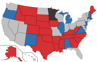 United States elections, 2020 - Image: 2020 Senate election map