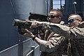 22nd MEU LAAD practices target tracking aboard USS Bataan 140508-M-HZ646-008.jpg