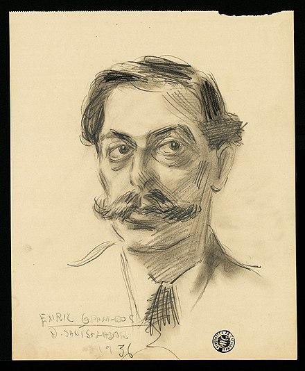 Retrato de Granados realizado por David Santsalvador. 1936.