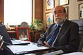 30-07-2009 Diputado Enrique Accorsi Opazo en su oficina, sentado tras escritorio, primer plano cubierta escritorio y computador..JPG