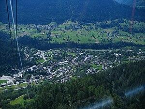 Ernen - Ernen and Fiesch viewed from Fiescheralp