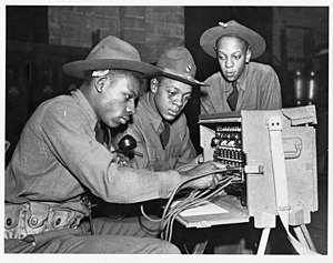 Military communications - Middle 20th century field systems often required an operator