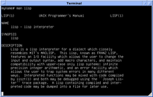 Black and white 4.3 BSD UWisc VAX Emulation Lisp Manual screenshot