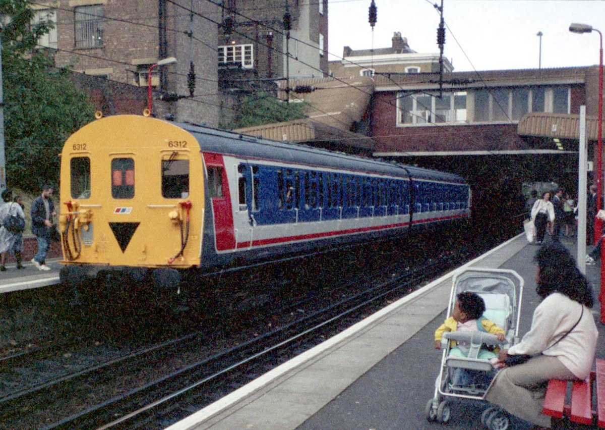 South London Suburban Railway Station With Island Platform