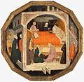 4 Master of Charles of Durazzo (Francesco di Michele) A Birth Scene (Desco da Parte), c. 1410 Harvard Art museum (2).jpg