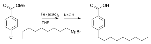 4-nonylbenzoicacid synthesis using a grignard reagent