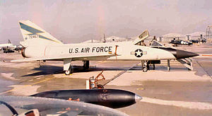 539th Fighter-Interceptor Squadron - F-106A 57-2467, with light blue thunderbolt on the tail fin