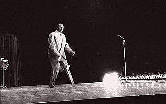 Peg Leg Bates - Peg Leg Bates, performing at the Muscular Dystrophy Marathon, December, 1954, Denver, Colorado Colosseum