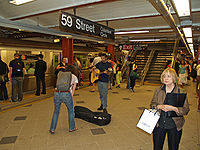 Columbus Circle subway station is one of the city's busiest subway stations.