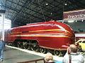6229 Duchess of Hamilton streamlined steam locomotive National Railway Museum York 23 May 2009.jpg