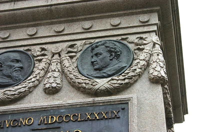 File:6652 - Roma - Ettore Ferrari, Monumento a Giordano Bruno (1889) - Foto Giovanni Dall'Orto, 6-Apr-2008.jpg