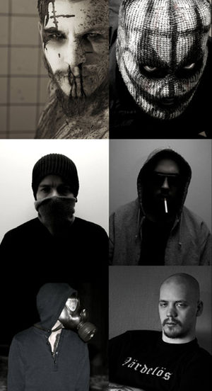 "Lifelover - Clockwise from top right are members: Jonas ""B"" Bergqvist, Felix ""Fix"" Öhlén , Rickard ""LR"" Öström, Johan ""1853"" Gabrielson, Henrik ""H."" Huldtgren and Kim ""( )"" Carlsson."