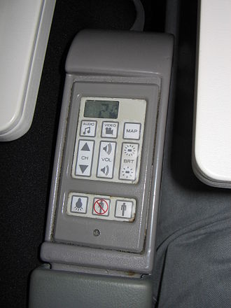 In-flight entertainment - IFE control integrated in an armrest