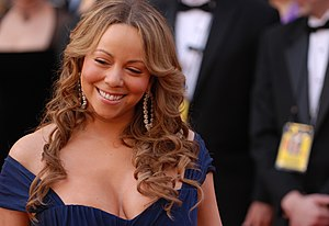 Mariah Carey during red carpet interviews at t...