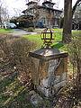 8 Harrison Ave., Livingston Manor gateway pylon.JPG