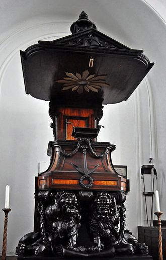 Abraham Isaac Steytler - Pulpit of the Groote Kerk.