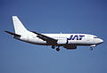 92ao - JAT Yugoslav Airlines Boeing 737-300; YU-AND@ZRH;22.04.2000 (6350769101).jpg