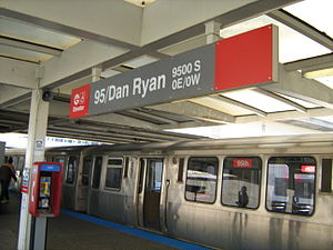 95th/Dan Ryan station - 95th/Dan Ryan station in April 2009