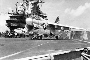 A-7A VA-153 on cat of USS Oriskany (CVA-34) c1972.jpg