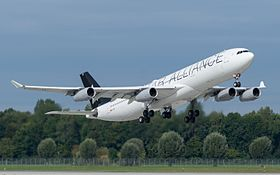 A 340 D-AIGP in STAR ALLIANCE Bemalung