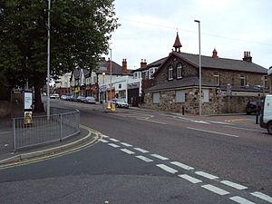 Claughton, Merseyside - Image: A5027 Upton Road, Claughton Village 3