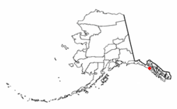 Location of Elfin Cove, Alaska