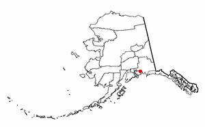Tatitlek, Alaska - Image: AK Map doton Tatitlek