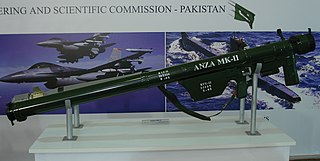 Anza (missile) Man-portable air-defence system (MANPADS)