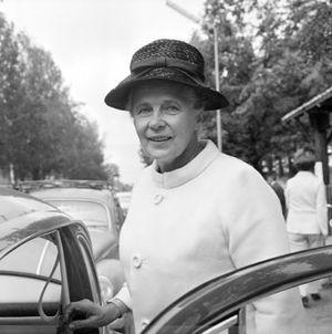 Alva Myrdal - Alva Myrdal in Tierp in 1968.