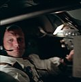 AS11-36-5291 - Apollo 11 - Apollo 11 Mission image - Spacecraft interior with astronaut Neil A. Armstrong looking at camera - NARA - 16682935.jpg