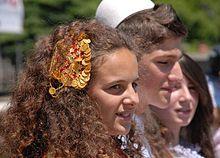 Photographie de jeunes Albanais de Macédoine du Nord en 2010