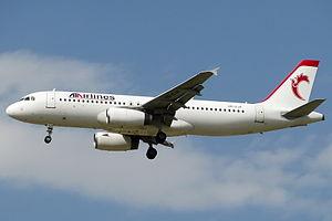 ATA Airlines (Iran) - An ATA Airlines A320-200 landing at Tabriz International Airport