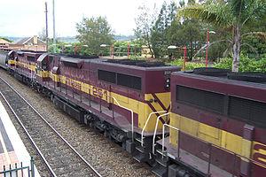 Australian Transport Network - L Class locomotives at Picton station in September 2001