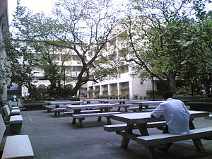 "Angeles University Foundation - The AUF Activity Center or also known as ""Quad A"" in the main campus is the focal point of student events, activities and social interaction in the university."